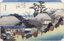 The Teahouse at the Spring by Ando or Utagawa Hiroshige