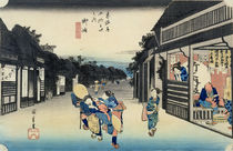 Goyu: Waitresses Soliciting Travellers by Ando or Utagawa Hiroshige