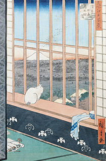 Asakusa Rice Fields during the festival of the Cock from the series '100 Views of Edo' by Ando or Utagawa Hiroshige