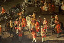 A Cavalcade in the Winter Riding School of the Vienna Hof to celebrate the defeat of the French army at Prague von Martin II Mytens or Meytens