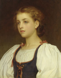 Biondina  by Frederic Leighton