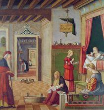 The Birth of the Virgin by Vittore Carpaccio