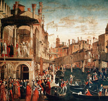 The Miracle of the Relic of the True Cross on the Rialto Bridge by Vittore Carpaccio