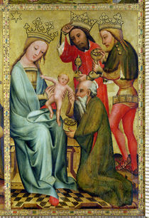 The Adoration of the Magi from the High Altar of St. Peter's in Hamburg by Master Bertram of Minden