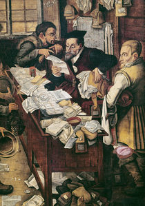 The Payment of the Yearly Dues  von Pieter Brueghel the Younger