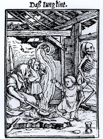 Death Taking a Child von Hans Holbein the Younger