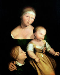 The Artist's Wife and Children by Hans Holbein the Younger