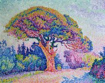 The Pine Tree at St. Tropez by Paul Signac
