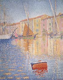 The Red Buoy by Paul Signac