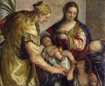 The Holy Family with St. Barbara by Veronese