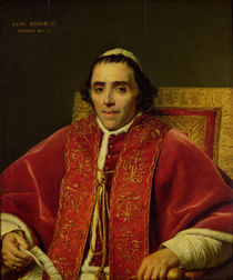 Portrait of Pope Pius VII  by Jacques Louis David