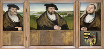 Electors of Saxony: Friedrich the Wise  von the Elder Lucas Cranach