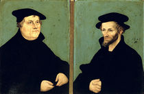 Double Portrait of Martin Luther  by the Elder Lucas Cranach