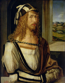 Self Portrait with Gloves von Albrecht Dürer