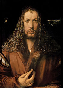 Self Portrait at the Age of Twenty-Eight von Albrecht Dürer