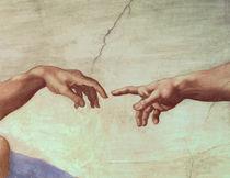 Hands of God and Adam by Michelangelo Buonarroti