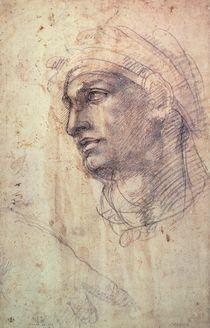 Study of a Head  by Michelangelo Buonarroti