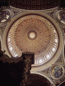 View of the interior of the dome by Michelangelo Buonarroti