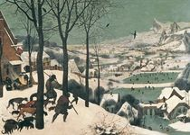 Hunters in the Snow - january by Pieter the Elder Bruegel