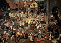 Fight between Carnival and Lent by Pieter the Elder Bruegel