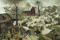 The Census at Bethlehem  by Pieter the Elder Bruegel