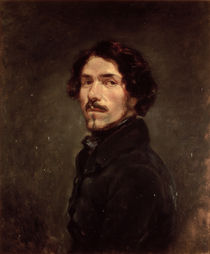 Self portrait by Ferdinand Victor Eugene Delacroix