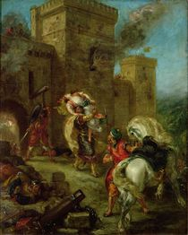 Rebecca Kidnapped by the Templar by Ferdinand Victor Eugene Delacroix