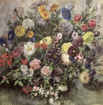 Bouquet of Flowers  by Ferdinand Victor Eugene Delacroix