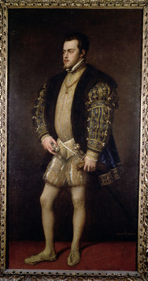 Portrait of Philip II  by Titian