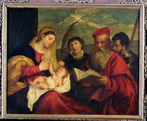 Madonna and Child with SS. Stephen von Titian