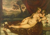 Venus and Cupid  by Titian