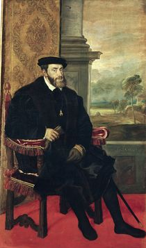 Seated Portrait of Emperor Charles V  von Titian