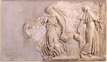 Relief depicting maenads dancing by Roman