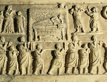 Relief depicting a funeral scene  by Roman