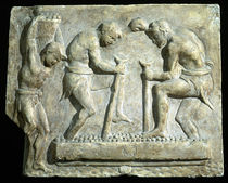 Relief depicting pavers  by Roman