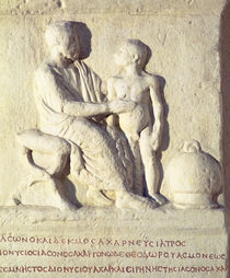 Relief depicting a visit to the doctor  by Roman