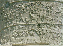 The Roman army crossing the Danube by Roman