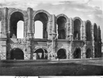 Exterior view of the amphitheatre  by Roman