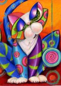 Wall Flower Kitty by Alma  Lee