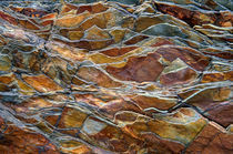 Rock pattern, Glacier National Park, Montana by Tom Dempsey