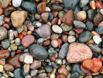 Pebbles on Pictured Rocks National Lakeshore, USA by Tom Dempsey