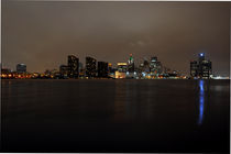 Detroit Skyline at Night by Julian Sheen