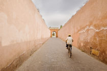 Cycling out of the Marrakesh Medina by Tom Hanslien