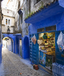 Local Food Store in the Chefchaouen Medina. by Tom Hanslien
