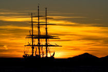 The Groch Fock from Germany at Sunset Ibiza Harbour von Tamàs Ibiza