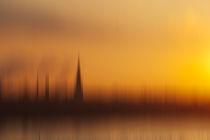 Sonnenaufgang am Rhein von Michael Schickert