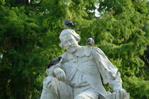 Statue with pigeons by bob bingenheimer