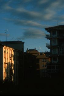 Early morning light on buildings in Granada, Spain by bob bingenheimer