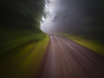 Motion blur curve in the road 2 von Ed Book