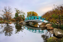 Japanese Foot Bridge In Autumn by Paul Lemke